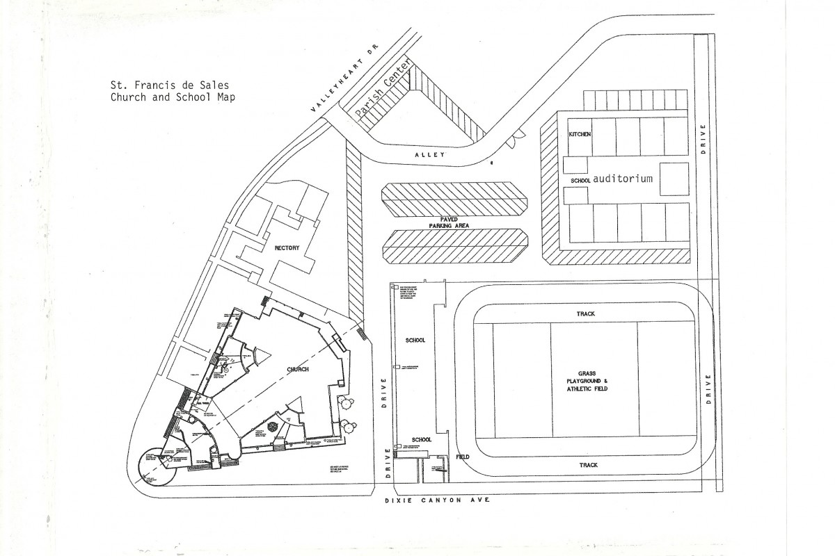 St. Francis de Sales Church and School Map